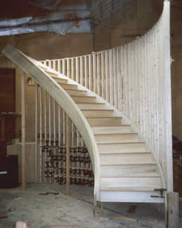 Chambersburg pa pre assembled stair builders custom pre for Pre built staircase